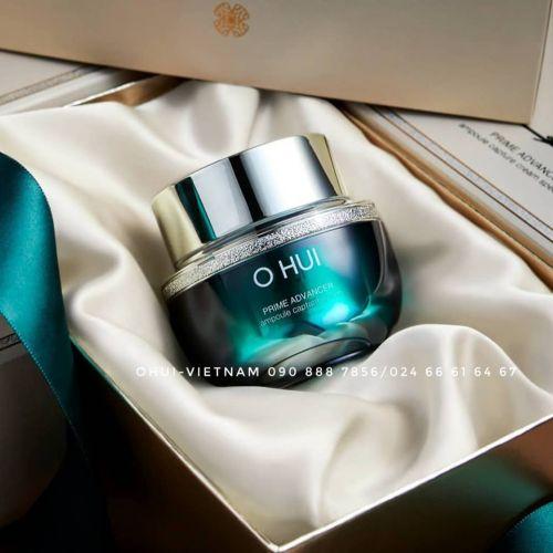 OHUI Prime Advancer  Ampoule Capture Cream Kem dưỡng ẩm với kết cấu mềm mại, khả năng thấm thấu cao, đậm đặc tinh chất, củng cố cốt lõi làn da, ngăn ngừa lão hóa toàn diện 50ml