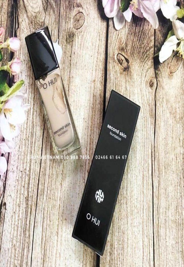 OHUI Second Skin Foundation SPF35/PA++ Kem nền che phủ cao, làm đều màu và tạo sắc da khỏe mạnh, tươi sáng 35ml