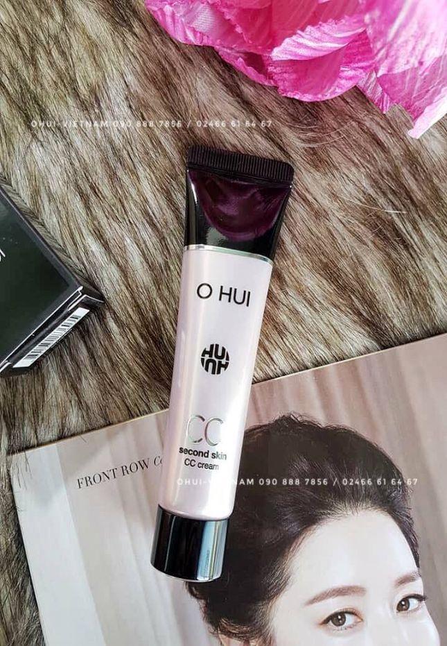 OHUI Second Skin CC Cream SPF37/PA++ Kem CC trang điểm mỏng mịn tự nhiên, đem lại sắc da sáng trong 35ml