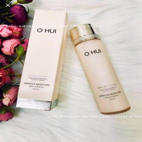 OHUI Miracle Moisture Skin Softener Nước hoa hồng dành cho da khô yếu, mẫn cảm, giúp làm dịu và cung cấp độ ẩm cho da 150ml