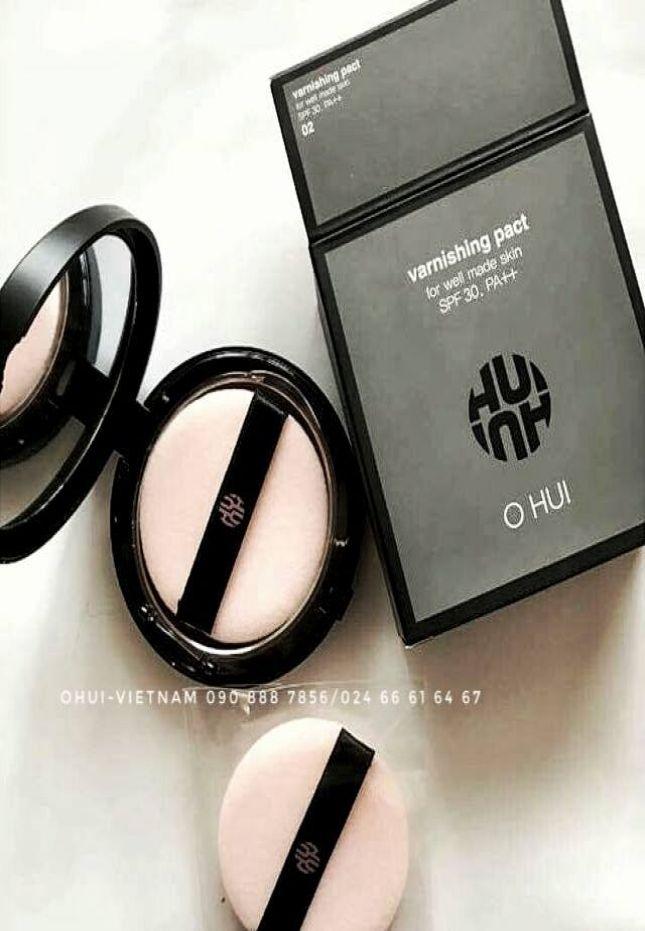 OHUI Varnishing Pact SPF30/PA++ Phấn phủ hoàn chỉnh lớp nền trang điểm, duy trì độ bền màu hoàn chỉnh nếp da láng mượt 11g