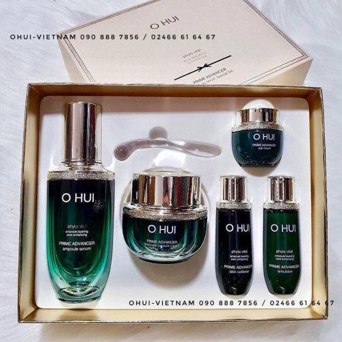 OHUI Prime Advancer 5pcs Special Set Trọn bộ chăm sóc da OHUI Xanh 120ml