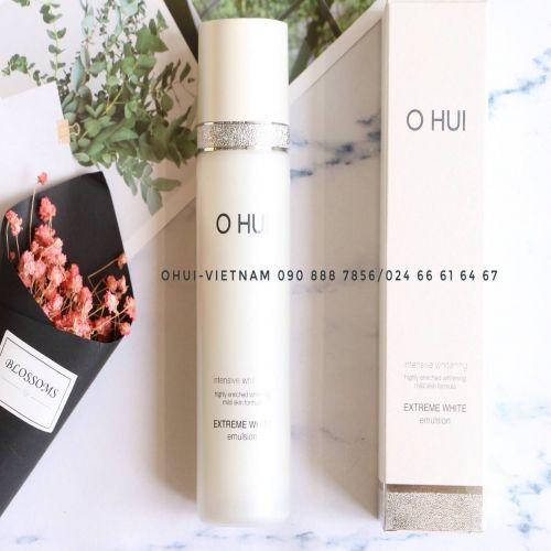 OHUI Extreme White Emulsion Sữa dưỡng trắng da tinh thể tuyết 130ml