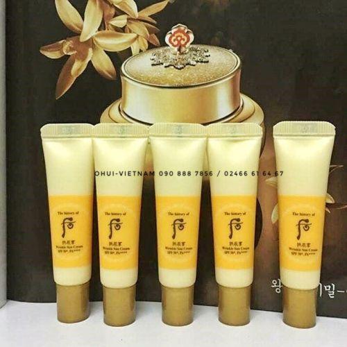 Whoo Wrinkle Sun Cream SPF50+/PA++++ Kem chống nắng Đông Y cải thiện nếp nhăn 6ml