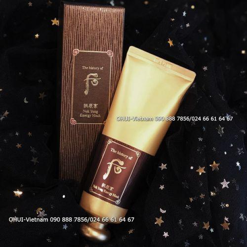 Whoo Nok Yong Energy Mask Mặt nạ nóng Lộc nhung và sữa ong chúa 120ml