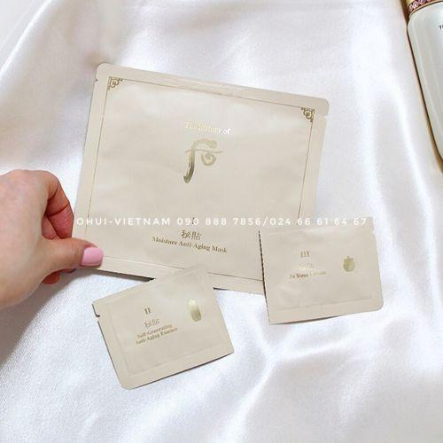 Whoo Bichup Royal Anti-Aging 3-Step Mặt nạ giấy dưỡng ẩm chống lão hóa, khởi đầu cho làn da thanh khiết đầy sinh khí 27ml