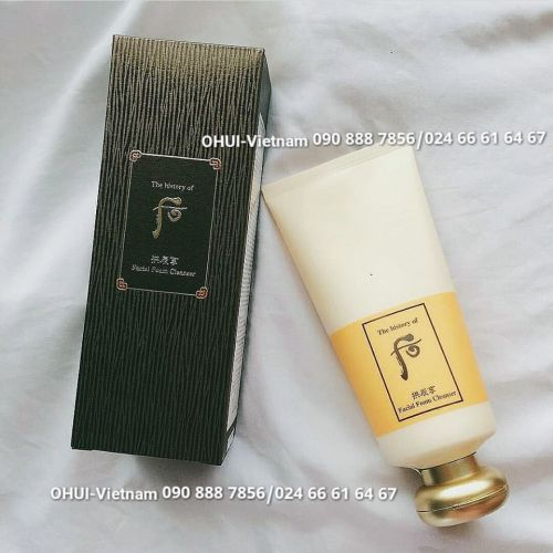 Whoo Facial Cleanser Sữa rửa mặt dưỡng ẩm Đông Y làm sạch nhẹ nhàng cung cấp dưỡng chất thảo mộc phong phú cho da 180ml