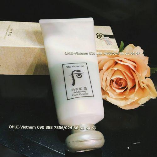 Whoo Brightening Foam Cleanser Sữa rửa mặt trắng da Đông Y dành cho da dầu, hỗn hợp thiên dầu 180ml