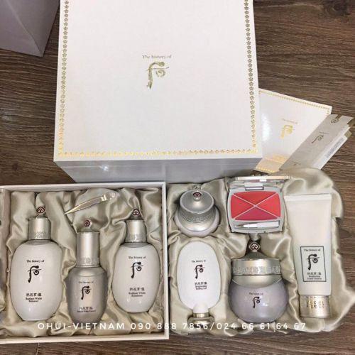 Whoo Seol Royal Whitening Special Set 8pcs Trọn bộ set dưỡng trắng da Hoàng tộc 515ml